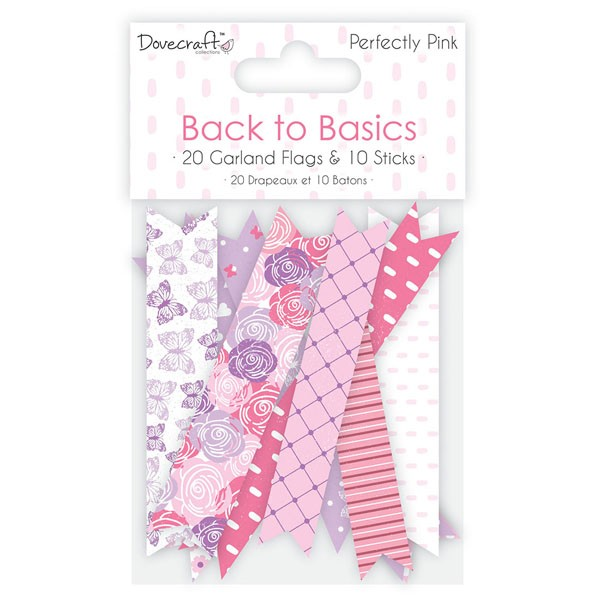 B2b Perfectly Pink Garland Flags
