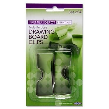 Premier Drawing Board Clips Pk.4