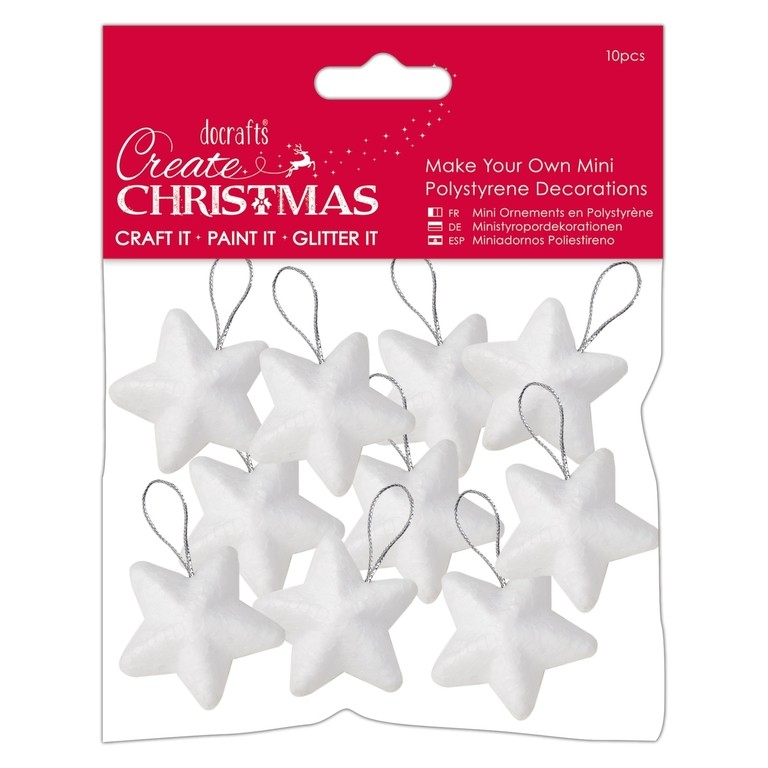 Make Your Own Mini Polystyrene Decorations 4cm (10