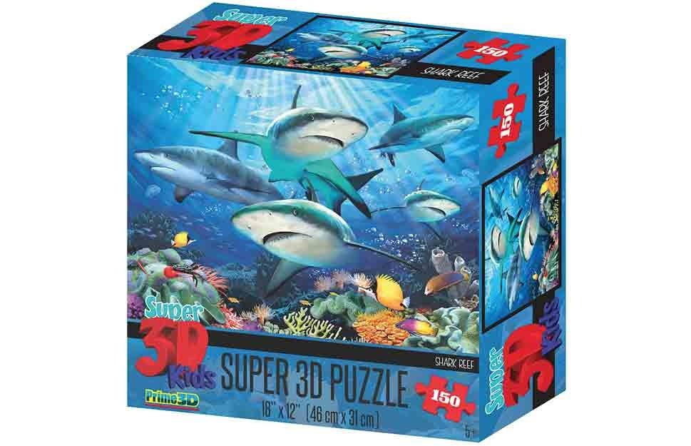 3d Puzzle 150pc Reef Sharks
