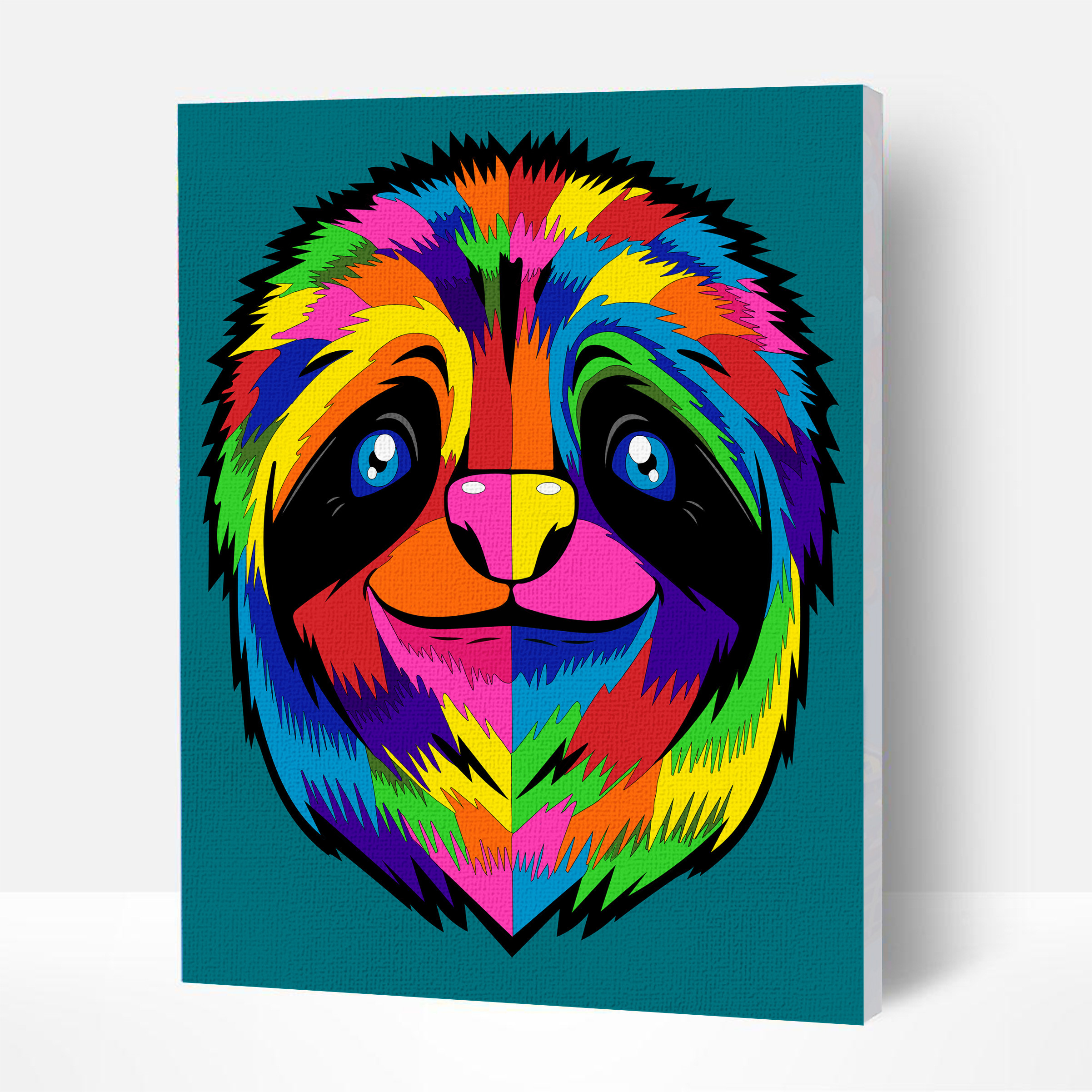 Sloth Paint By Numbers