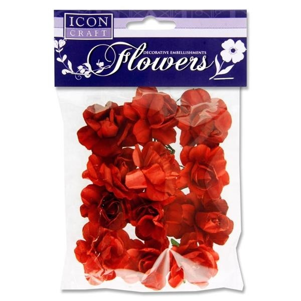 Icon Paper Flowers  - Red