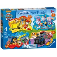 Paw Patrol Four Large Shaped Puzzles (10,12,14,16p