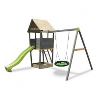 Playtower With Nest Swing