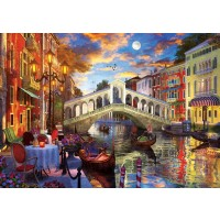 1500pc Art Puzzle -rialto Bridge, Venice