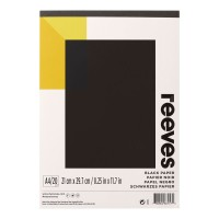 Reeves Black Pad A4 120gsm 20 Shts