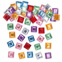 Square Self -adhesive Acrylic Jewels (pack Of 240)