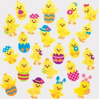 Easter Chick Felt Stickers (pack Of 100)