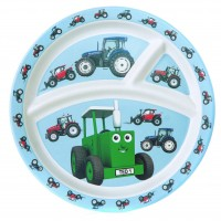 Tractor Ted Bamboo Divider Plate -tractor