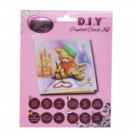 Teddy Crystal Card Kit
