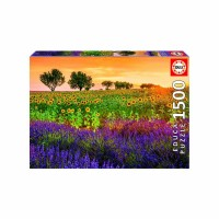 1500pc Field Of Sunflowers & Lavender