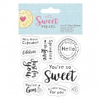 """4 X 4"""" Clear Stamp - Sweet Treats  - Sentiments"""