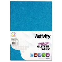 A4 Glitter Card Turquoise 10 Sheets